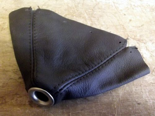 Gear lever gaiter with top ring, black leather, MX-5 mk1